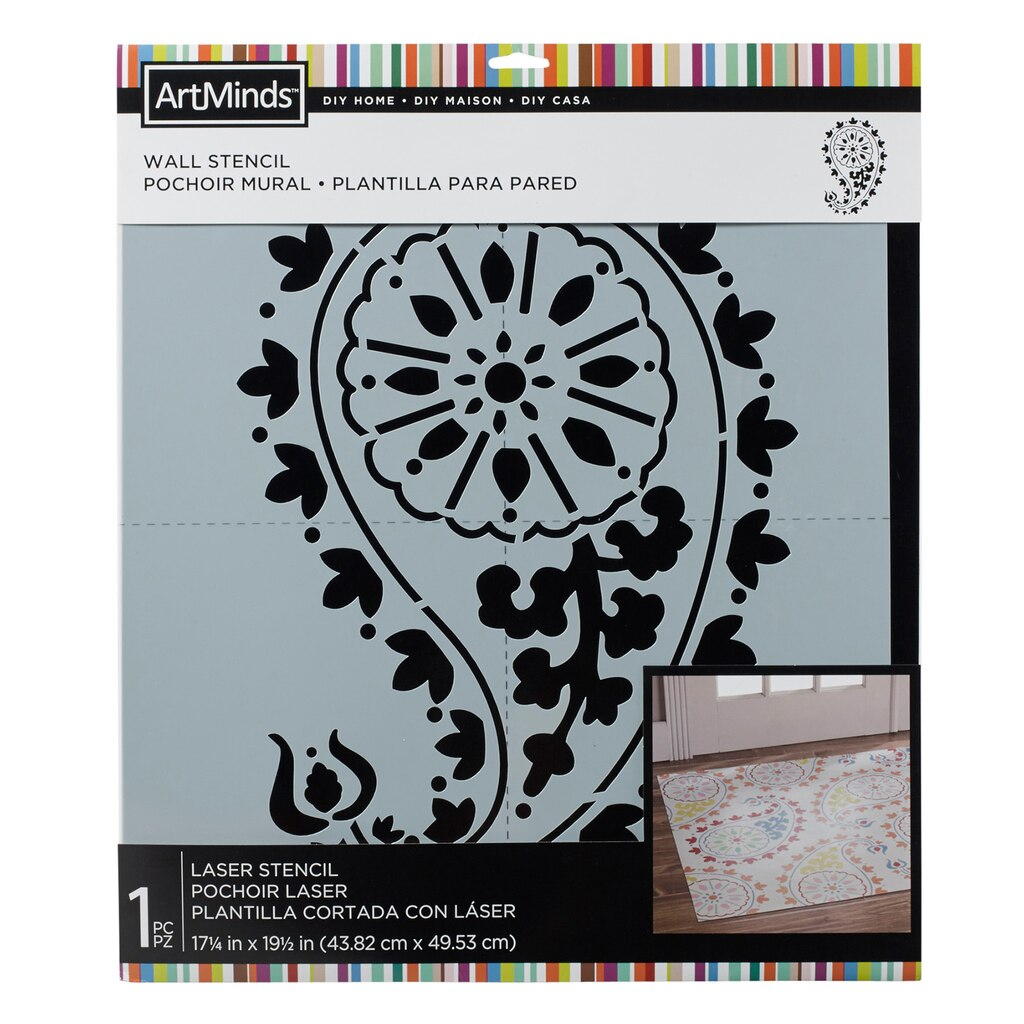 Diy Home Paisley Wall Stencil By Artminds 174