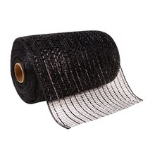 "Celebrate It® Occasions Mesh Ribbon, 5 1/2"", Black"