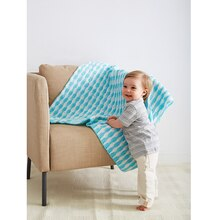 Loops & Threads® Snuggly Wuggly® Stripe It Bright Baby Crochet Blanket, medium