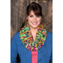 Red Heart® Super Saver® Chunky Colorful Knit Cowl, medium