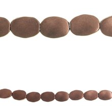 Bead Gallery Oval Beads, Metal Copper Plate