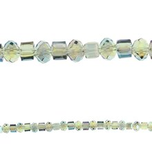 Bead Gallery Cube Rondelle Mix Glass Beads, Green