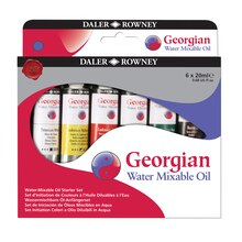 Daler-Rowney Georgian Water Mixable Oil Paint, Set of 6