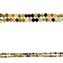 Bead Gallery Faceted Rondelle Glass Beads, Amber Mix