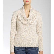Isaac Mizrahi® CRAFT™ University Cowl Knit Pullover, medium