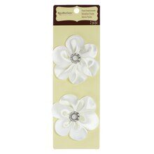 Creme Layered Floral Embellishments by Recollections