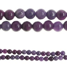 Bead Gallery Dyed Quartzite Beads, Purple, Close-Up