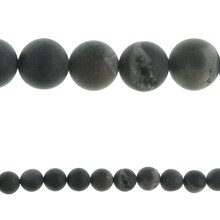 Bead Gallery Agate Round Beads, Gray, Close-Up