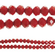 Bead Gallery Faceted Glass Beads, Red