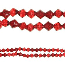Bead Gallery® Bicone Crackled Glass Beads, Ruby, medium