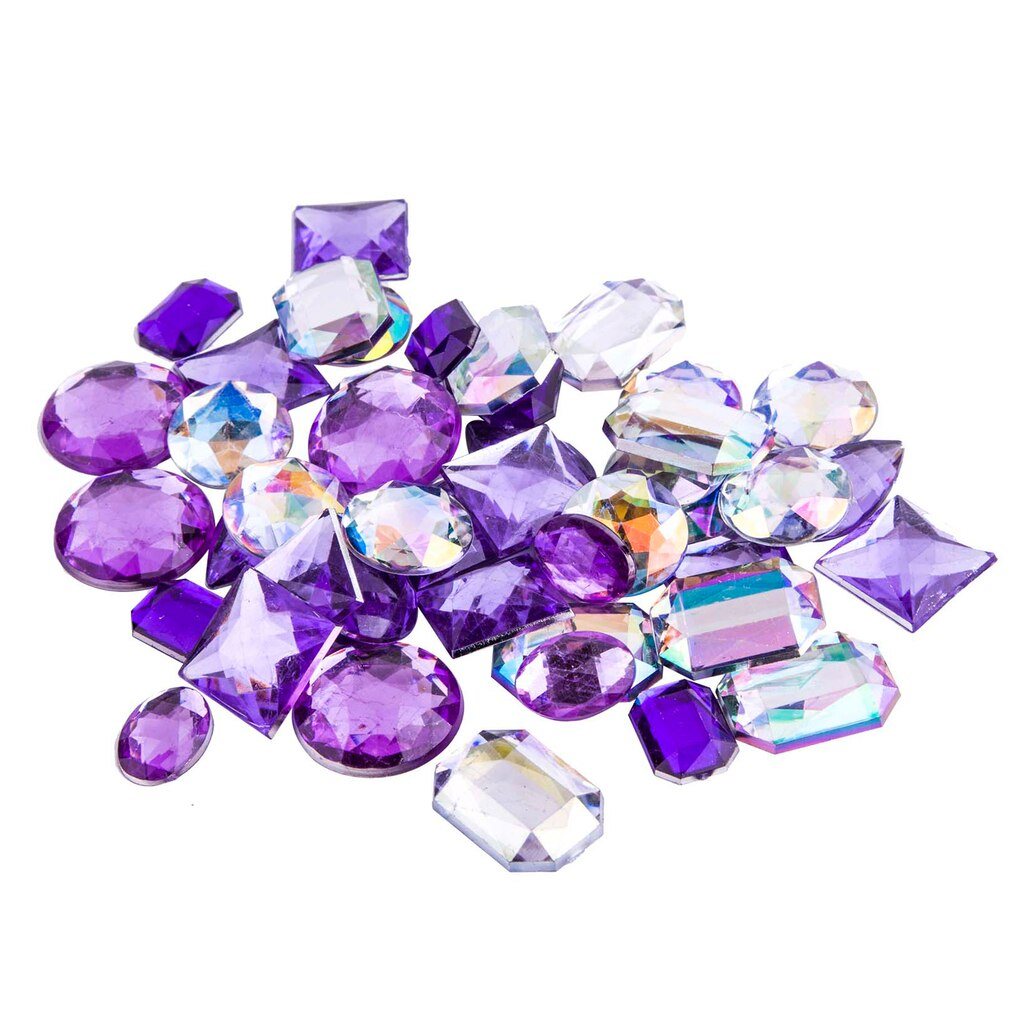 find the purple large gems by bead landing at