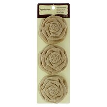 Natural Burlap Roses by Recollections