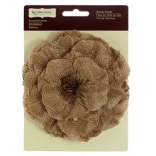 Large Burlap Flower by Recollections