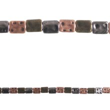 Bead Gallery Metal Rectangular Beads, Multi-Finished, Close-Up