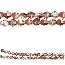 Bead Gallery Czech Glass Fire Polished Beads, Copper