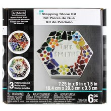 Hexagon Stepping Stone Kit by ArtMinds, 8""