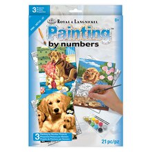 Royal & Langnickel Painting by Numbers Small Dogs Set