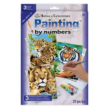 Royal & Langnickel Painting by Numbers Small Jungle Cats Set