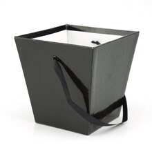 Medium Square Pail by Celebrate It™, Black