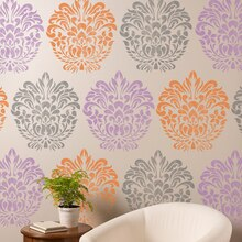 ArtMinds® Damask Stencil Wall, medium