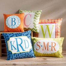 ArtMinds® Monogram Pillows, medium