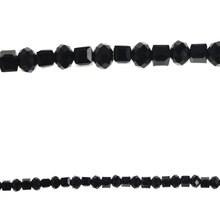 Bead Gallery Glass Rondelle Beads, Black, Close-Up