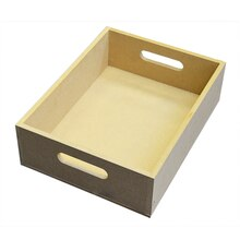 MDF Wood Crate with Handles by ArtMinds