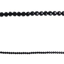 Bead Gallery Faceted Glass Beads, Black