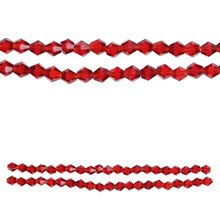 Bead Gallery Glass Faceted Beads, Red, Close-Up