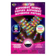 Color Glo Alphabet Beads Jewelry Craft Kit
