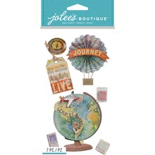 Jolee's Boutique Stickers, Map Medallion