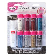 Tulip Fashion Glitter Primary Glitter Bond, 9 Pieces