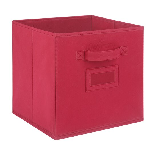 Recollections™ Craft Storage System Fabric Bin, Brick Red