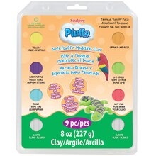 Sculpey Pluffy Clay Variety Pack, Tropical