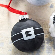 Whimsy Santa Belt Chalkboard Ornament, medium