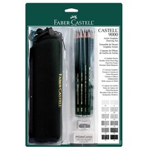 Faber-Castell 9000 Artist Drawing Graphite Pencil Set, 12 Pieces