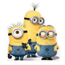 Life-Size Despicable Me Minions Cut Out Decoration, Group