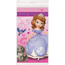 "Plastic Sofia the First Table Cover, 84"" x 54"""