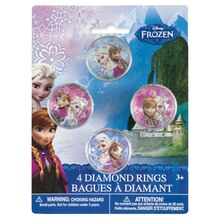 Plastic Disney Frozen Diamond Rings, 4ct