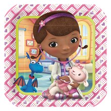 "9"" Square Doc McStuffins Dinner Plates, 8ct"
