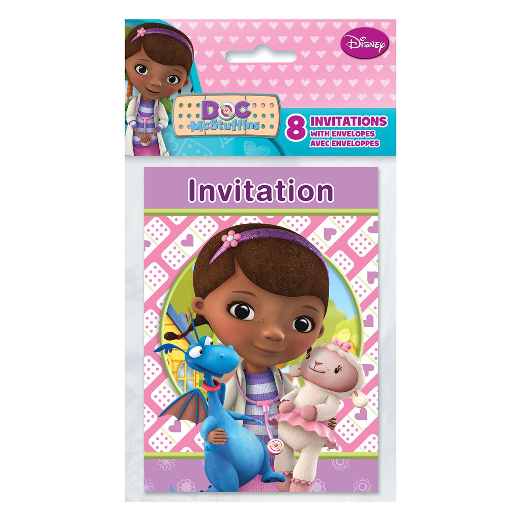 Doc McStuffins Invitations | Doc McStuffins Party Supplies