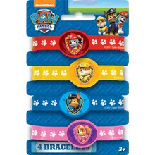 PAW Patrol Rubber Bracelets, 4ct, medium