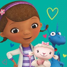 Teal Doc McStuffins Luncheon Napkins, 16ct