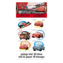 Disney Cars Tattoo Sheets, 8ct