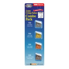 Bead Buddy 2 mm Crimp Tubes, Combo Pack, 600 Pieces
