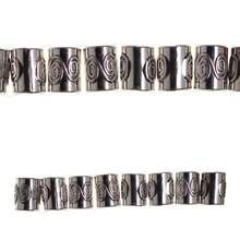 Bead Gallery Large Metallic Tube Beads, Silver