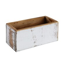 "Whitewashed Wood Box by ArtMinds, 7.5"" x 3.4"" x 3.5"""