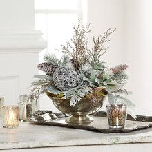 Frost Christmas Floral Centerpiece, medium