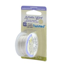 Beadalon Twisted Artistic Wire, Round, 20 Gauge