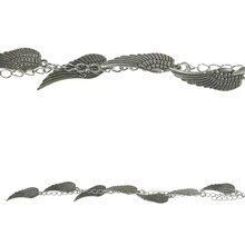 Bead Gallery Antique Wing Beads, Silver